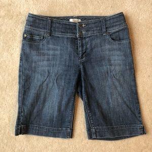 White House Black Market Jean Shorts Size 4